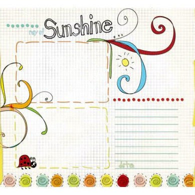 Fancy Pants Designs - On A Whimsey Collection - 12 x 12 Transparency - Ray of Sunshine