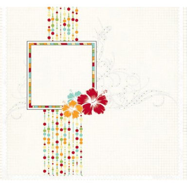 Fancy Pants Designs - Summer Soiree Collection - 12 x 12 Transparency - Paradise, CLEARANCE