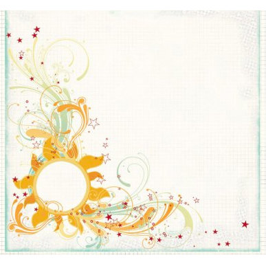 Fancy Pants Designs - Summer Soiree Collection - 12 x 12 Transparency - Heat Wave