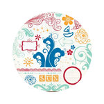 Fancy Pants Designs - Summer Soiree Collection - 10 x 10 Clear Acrylic Circle Stamps, CLEARANCE
