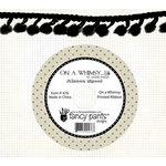 Fancy Pants Designs - On A Whimsey Collection - Ball Trim Ribbon - 25 Yards - Black, CLEARANCE