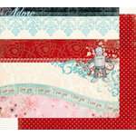 Fancy Pants Designs - Splendid Collection - 12 x 12 Double Sided Paper - Splendid Title Strips, CLEARANCE