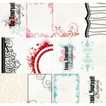 Fancy Pants Designs - Splendid Collection - 12 x 12 Transparency - My Valentines, CLEARANCE