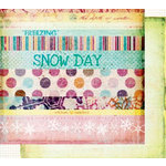 Fancy Pants Designs - Arctic Chill Collection - 12 x 12 Double Sided Paper - Title Strips, CLEARANCE