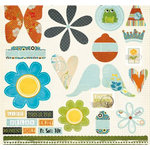 Fancy Pants Designs - The Daily Grind Collection - 12 x 12 Die Cuts - Titles and Tags, CLEARANCE
