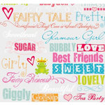 Fancy Pants Designs - Rub Ons - Girl Phrases, CLEARANCE