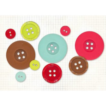 Fancy Pants Designs - Happy Holidays Collection - Buttons, CLEARANCE