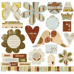 Fancy Pants Designs - Papa - Dad - Father -  Collection - Die Cut Titles and Tags - Papa - Dad - Father - , CLEARANCE
