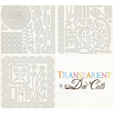 Fancy Pants Designs - 12x12 Transparent Clear Cuts - Clearly Bigger, CLEARANCE