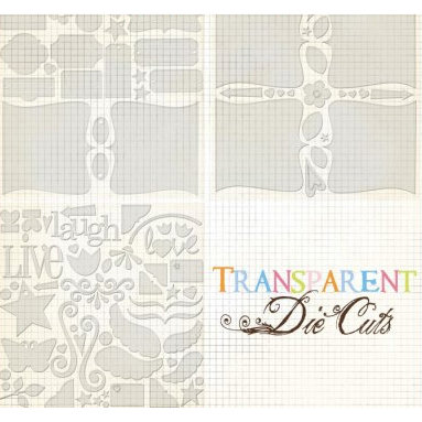 Fancy Pants Designs - 12x12 Transparent Clear Cuts - Bracket Book Set, CLEARANCE
