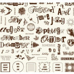 Fancy Pants Designs - 12x12 Acrylic Stamps - Create a Calendar