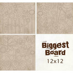 Fancy Pants Designs - Biggest Board Chipboard - 12x12 - Power Flowerz, CLEARANCE