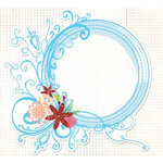 Fancy Pants Designs - Glitter Cuts Transparencies - Circle Frame