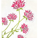 Fancy Pants Designs - Glitter Cuts Transparencies - Pink Floral, CLEARANCE