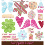 Fancy Pants Designs - Holly Jolly Collection - Christmas - Titles and Tags, CLEARANCE