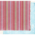 Fancy Pants Designs - Holly Jolly Collection - Christmas - 12x12 Double Sided Paper - Striped Sweater
