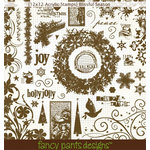Fancy Pants Designs - 12x12 Acrylic Stamps - Christmas - Blissful Season, CLEARANCE