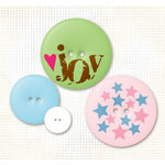 Fancy Pants Designs - Fashion Sense Collection - Buttons - Splash, CLEARANCE