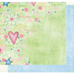 Fancy Pants Designs - Sweet Pea Collection - 12x12 Double Sided Paper - Emma