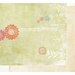 Fancy Pants Designs - Botanical Collection - 12x12 Double Sided Paper - Pansy, CLEARANCE