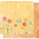 Fancy Pants Designs - Botanical Collection - 12x12 Double Sided Paper - Poppy, CLEARANCE