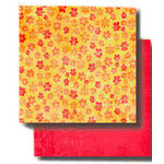 Fancy Pants Designs - 12x12 Double Sided Paper - Aged Florals Collection - Honeybunch, CLEARANCE