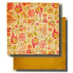 Fancy Pants Designs - 12x12 Double Sided Paper - Aged Florals Collection - Enchanting, CLEARANCE