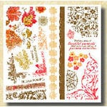 Fancy Pants Designs - Rub-Ons - Fancy Aged Florals, CLEARANCE