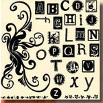 Fancy Pants Designs - 6x6 Acrylic Stamps - Chic Alphabet, CLEARANCE