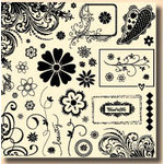 Fancy Pants Designs - 12x12 Acrylic Stamps - Pollen Dust