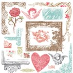 Fancy Pants Designs - Mulberry Road Collection - Rub Ons