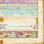Fancy Pants Designs - Lilac House Collection - 12 x 12 Double Sided Paper - Strips, CLEARANCE