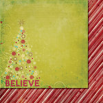 Fancy Pants Designs - Tradition Collection - Christmas - 12 x 12 Double Sided Paper - Shimmer
