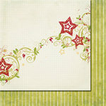 Fancy Pants Designs - Tradition Collection - Christmas - 12 x 12 Double Sided Paper - Stars and Holly