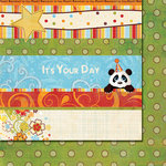Fancy Pants Designs - It's Your Day Collection - 12 x 12 Double Sided Paper - Strips, CLEARANCE