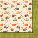 Fancy Pants Designs - It's Your Day Collection - 12 x 12 Double Sided Paper - Cake Time, CLEARANCE