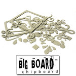 Fancy Pants Designs - Big Board Chipboard - Scrolls