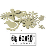Fancy Pants Designs - Big Board Chipboard - Florals, CLEARANCE
