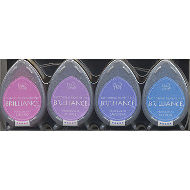 Tsukineko - Dew Drop Brilliance Fast Drying Pigment Ink - Jewel Colors Set