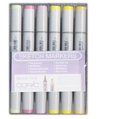 Copic - Sketch Marker Set - Very Pastel - 12 Piece Set