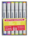 Copic - Sketch Marker Set - Fluorescent and Spice - 12 Piece Set