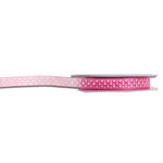 Darice - Bulk Ribbon - 25 yards - Organdy Polka Dot - Bright Pink and White - Three Eighths Inch