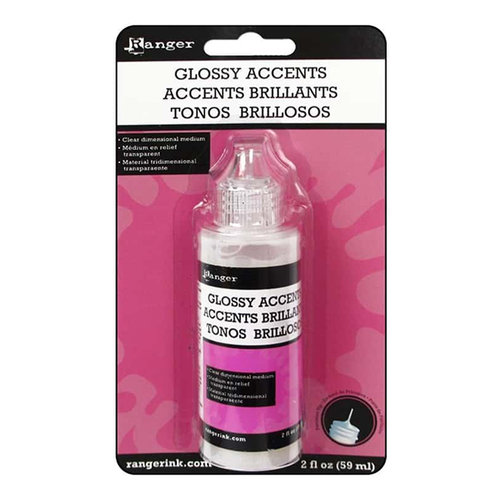 Ranger Ink - Glossy Accents - Clear Dimensional Embellishment - 2 ounces