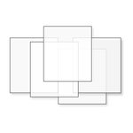 Gary M. Burlin and Co. - Embossable Window Plastic Clear - Acetate Sheets - 6 sheets 7x9 -
