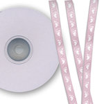 Darice - Bulk Bargain - Baby Feet Pink Ribbon - 25 Yards - Three Eighths Inch
