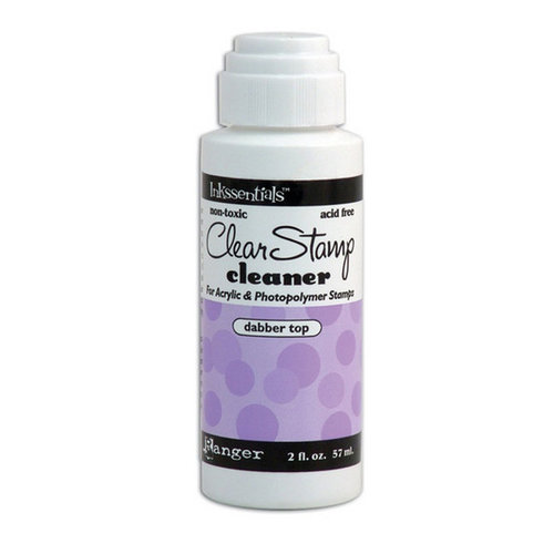 Ranger Ink - Inkssentials - Clear Stamp Cleaner With Dabber Top - 2 Ounces