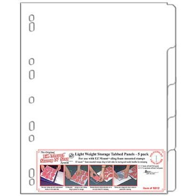 EZ Mount Stamp N Store - Light weight Storage Tabbed Panels 5 pack