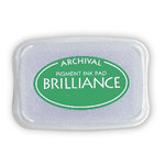 Tsukineko - Brilliance - Archival Pigment Ink Pad - Gamma Green