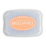 Tsukineko - Brilliance - Archival Pigment Ink Pad - Pearlescent Orange