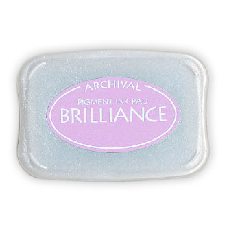 Tsukineko - Brilliance - Archival Pigment Ink Pad - Pearlescent Purple